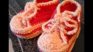 Пинетки Кеды - 1 часть - Crochet booties shoes - вязание основы(Мастерская Лилии Улановой - подробные мастер-классы создания красивых, оригинальных и качественных моделе..., 2014-05-25T04:59:18.000Z)