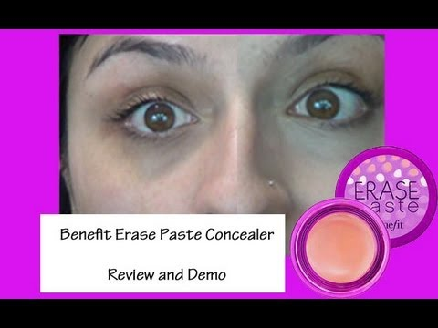 Review/Demo: Benefit Erase Paste - YouTube