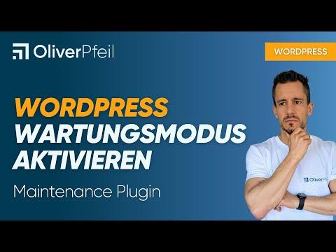 WordPress Wartungsmodus aktivieren (Maintenance Plugin)