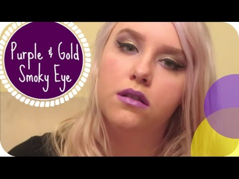 Purple & Gold Smoky Eye || Metal and Makeup