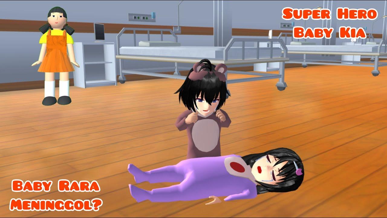 Super Hero Baby Kia | Baby Rara Meninggol ? | Drama Sakura School Simulator