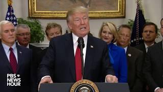 WATCH: President Trump siġns executive order reducing healthcare regulations