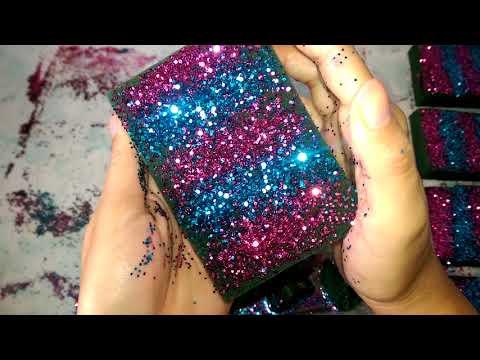 Wet floral foam glitter crush ❤💙
