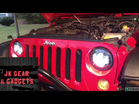 Jk Sunpie Led Headlight High Beam Fix Youtube