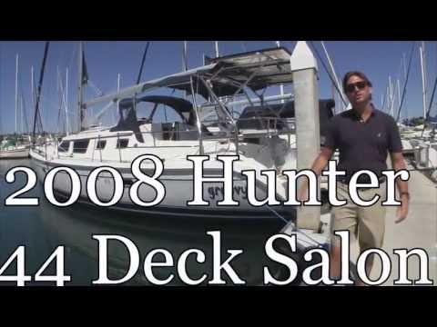 2008 Hunter 44 Deck Salon Walkthrough Tour By Ian Van Tuyl