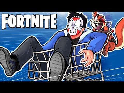 FORTNITE BR - NEW SHOPPING CART FUN, STUNTS, AND GLITCHES! (Broke the game!)
