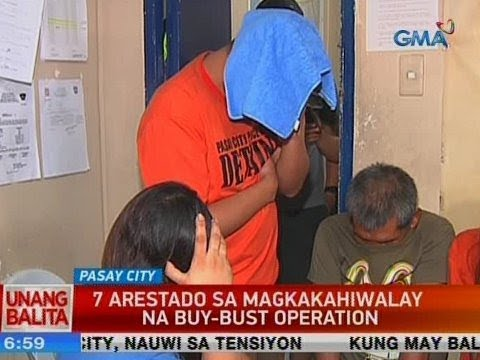 UB: 7 arestado sa magkakahiwalay na buy-bust operation sa Pasay City