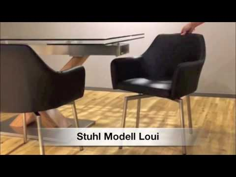 Drehstuhl Loui Der Marke Kawola Mit Edelstahlgestell Exklusiv Bei Kasper Wohndesign