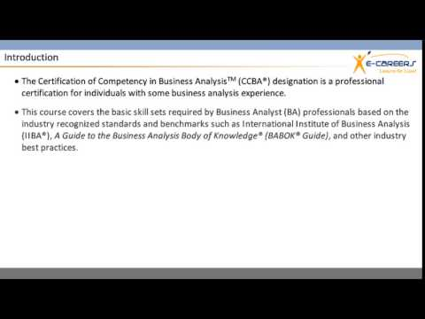 CCBA CERTIFICATION - YouTube