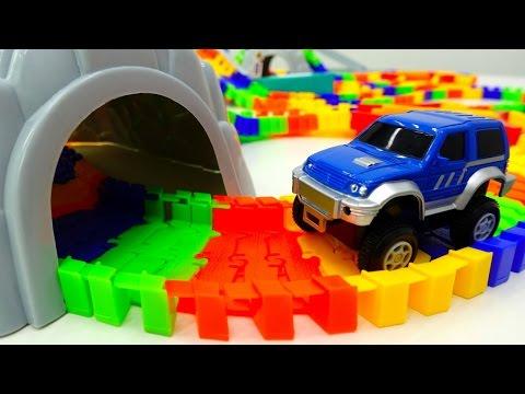 Гонки и гибкий трек - Машинки для мальчиков