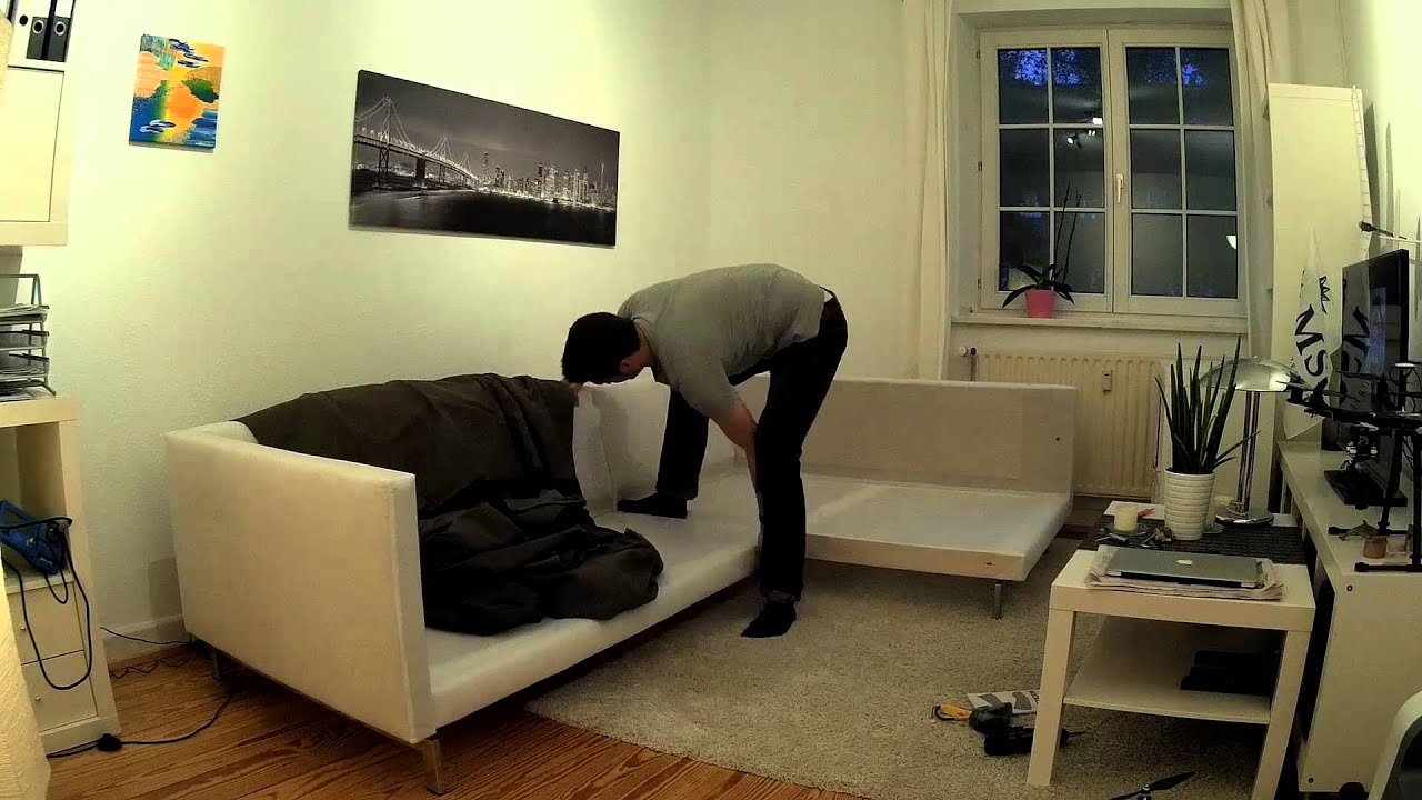 Ikea Sectional Sofa Built Of A Ikea Nockeby Sofa - Timelapse With Mobius Hd