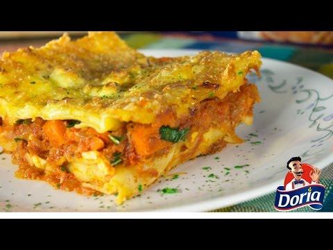 Lasagna 3 Quesos con Chorizo