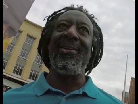 "Aggressive ""Hebrew"" Man Attacks Preaching (Bristol City Center Street Preaching)"
