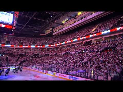NHL Playoffs Winnipeg Jets Pregame Don Cherry and Anthems  April 20th, 2015
