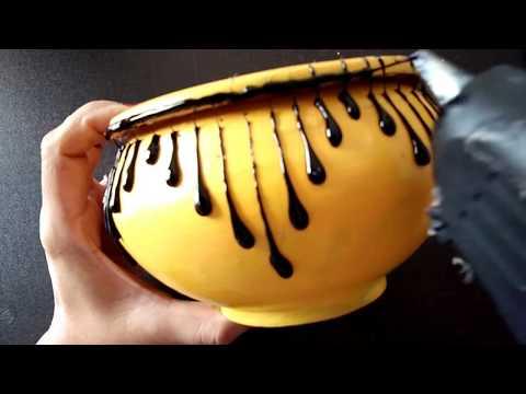 DIY hot glue gun craft ideas | terracotta pot painting ideas| home decor