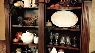 Fall Buffet Bookcase