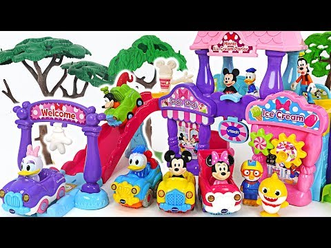 Minnie Mouse Ice Cream Parlor delivers delicious ice cream~! #PinkyPopTOY