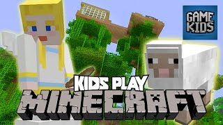 Millie, Geoff, And Griffon Play Minecraft Part 3 - Kids Play