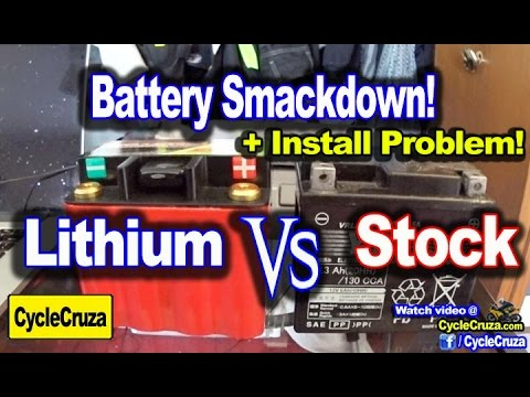 Ballistic Lithium Ion Vs Stock Battery Smackdown + Install Problem!