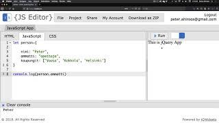 3. Javascript objekti ja array