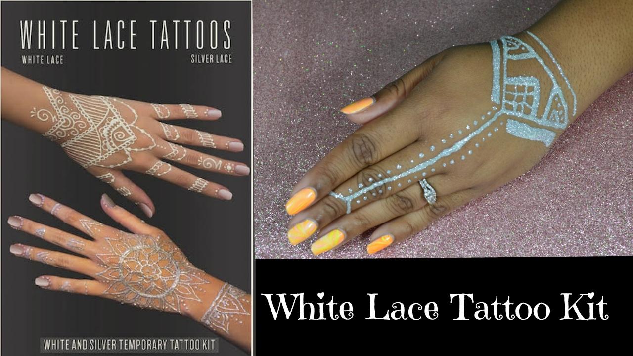 Mehndi Lace Tattoo : White lace tattoo kit earth henna youtube