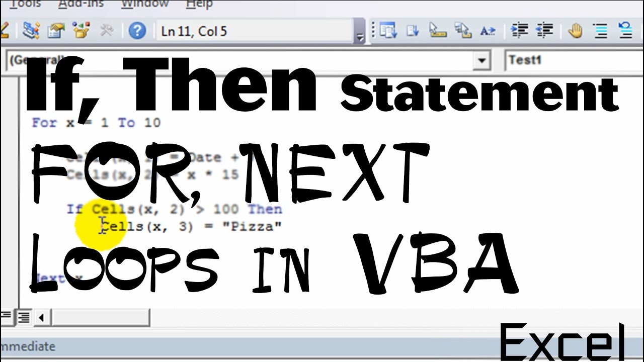 Excel Vba Basics 4 If Then Statements Within The For Next Loop