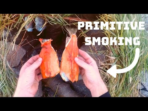 Catch N' Cook Trout In Primitive Smoker!