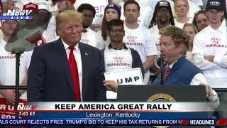 """DO YOUR JOB & PRINT HIS NAME"": KY Senator Regarding the Whistleblower During Trump Rally"