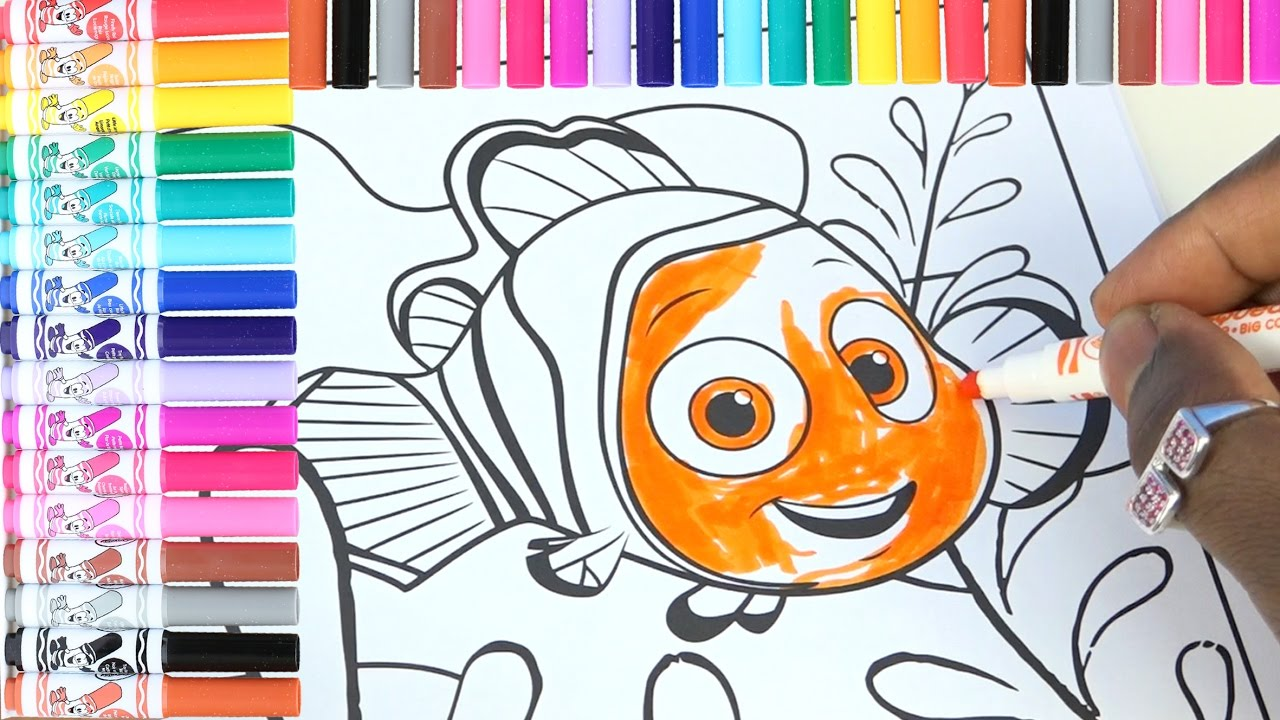 crayola coloring book for kids nimo coloring page disney pixar