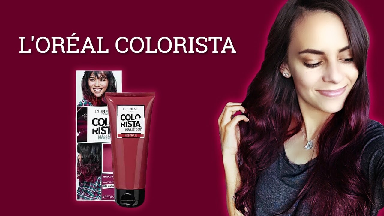 Dyeing My Hair Red L Oreal Colorista Review Youtube