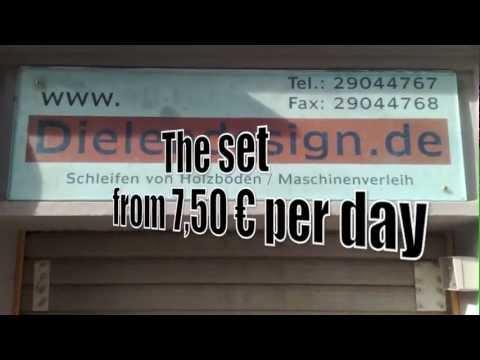 rental of beltsanders, hire sanding machines in berlin