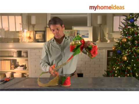 how to tie a wreath bow real simple - How To Make A Christmas Bow For A Wreath