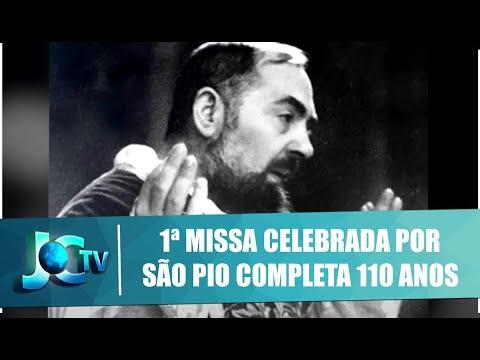 1ª missa celebrada por São Pio completa 110 anos - JCTV - 14/08/20