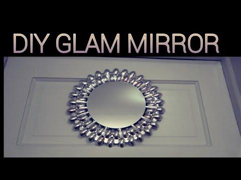 Diy Glam Starburst Mirror Dollar Tree Spoon Wall Artexpensive