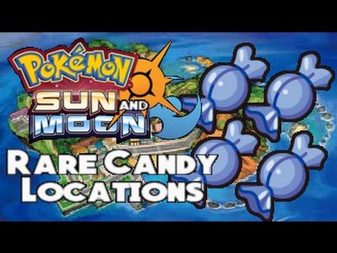 Pokemon Sun And Moon - Rare Candy Locations
