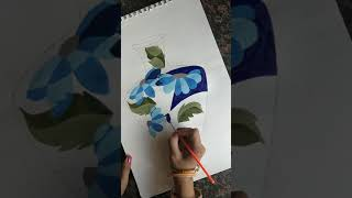 Intermediate Grade Drawing Exam Design How To Draw Flower Vase And Colour With Water Colours Youtube