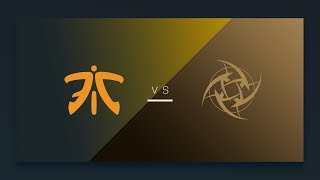CS:GO - Fnatic vs. NiP [Mirage] Map 1 - EU Matchday 15 - ESL Pro League Season 6