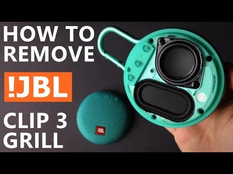 JBL Clip 3 - How To Remove Grill