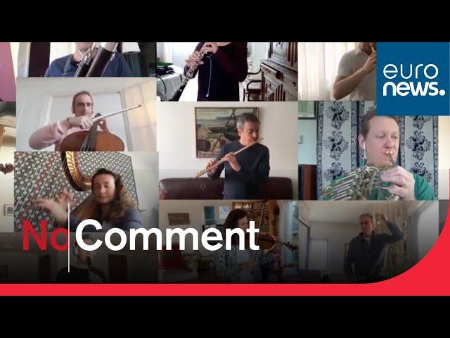 Coronavirus in Europe: French orchestra plays on despite lockdown