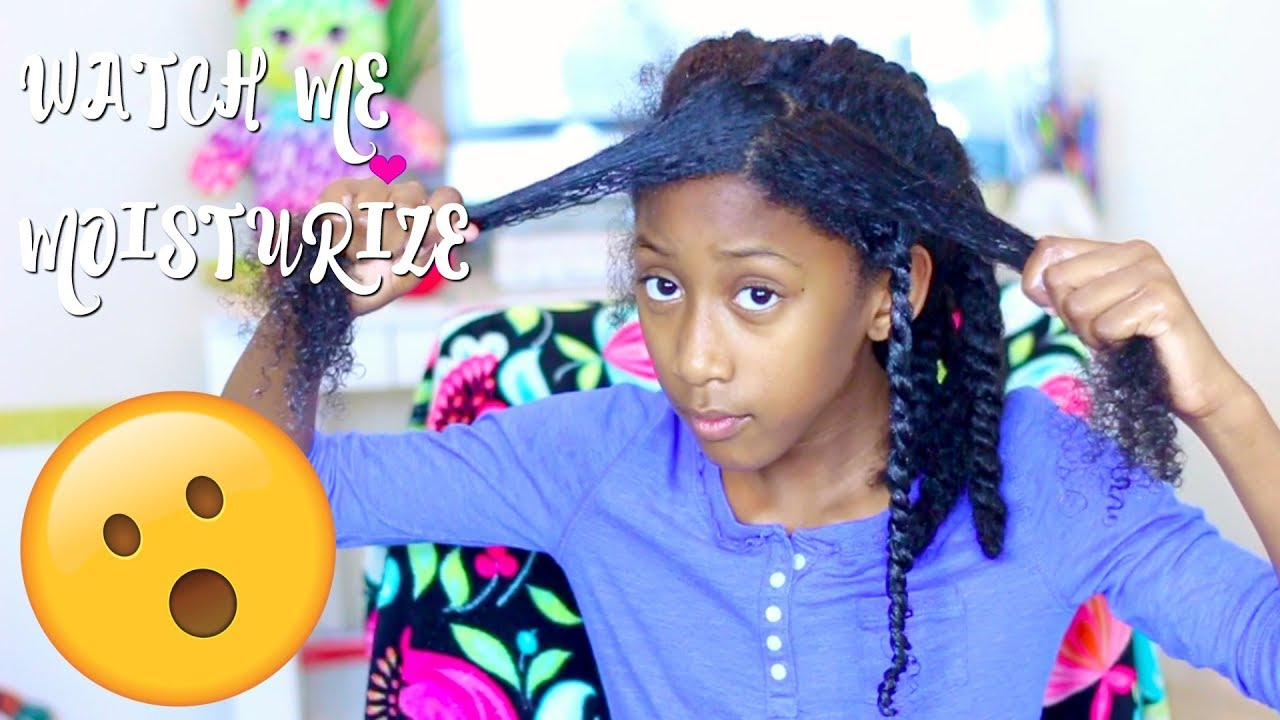 8 Year Old Moisturizes And Style Her Own Hairlittle Girls Natural