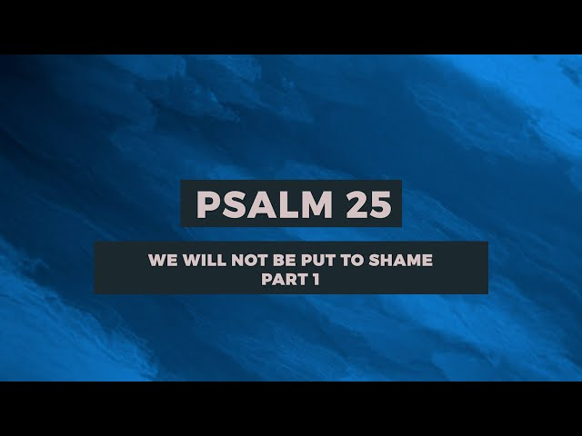 PSALM 25: WE WILL NOT BE PUT TO SHAME (PART-1)| Sam P. Chelladurai | Weekly Prayer | AFT Church