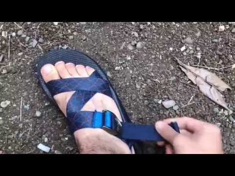 Annoying hanging and dragging Chaco straps fix