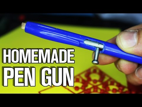 How To Make Real Pen Gun with Trigger