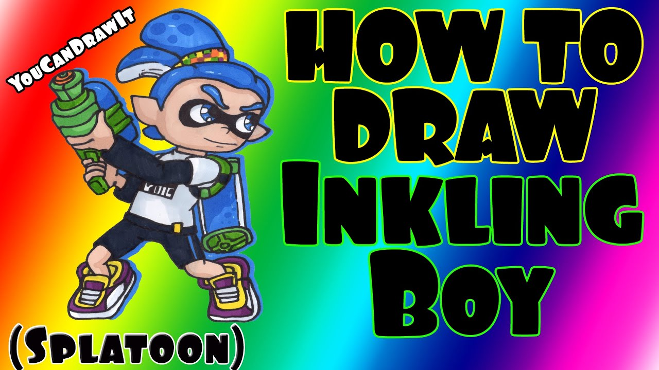How To Draw Inkling Boy From Splatoon Youcandrawit ツ 1080p