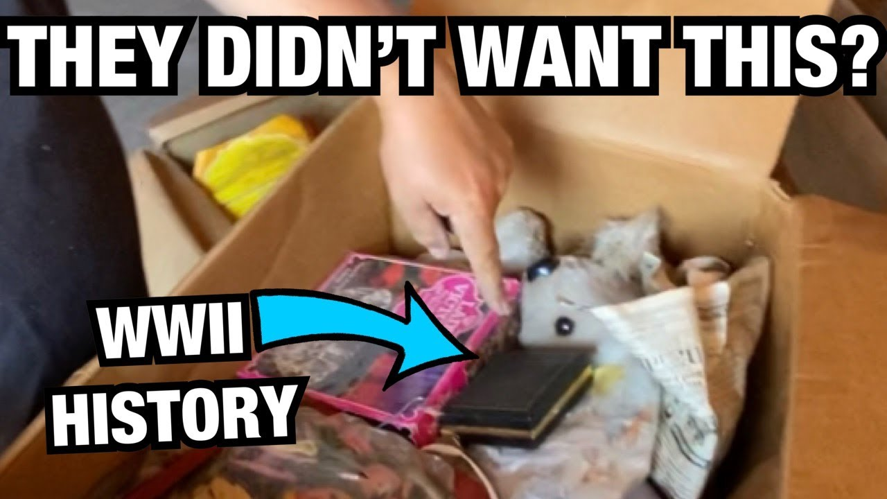 They didn't want this? WWII HISTORY! Opening storage wars mystery boxes of storage auction finds
