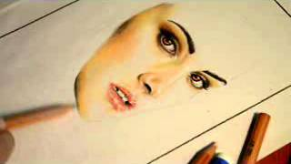 Speed drawing: Bella Swan (Kristen Stewart)
