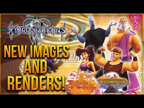 Kingdom Hearts 3  NEW Images, Renders and World Icons! ZEUS FINALLY REVEALED!