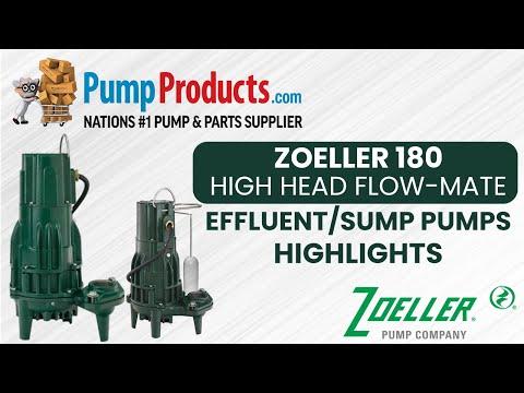 """Zoeller 180 Series """"High Head Flow-Mate"""" Effluent/Sump Pump Product Highlight"""