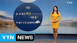 [날씨] 낮동안 포근...중부, 오후부터 비 또는 눈 / YTN