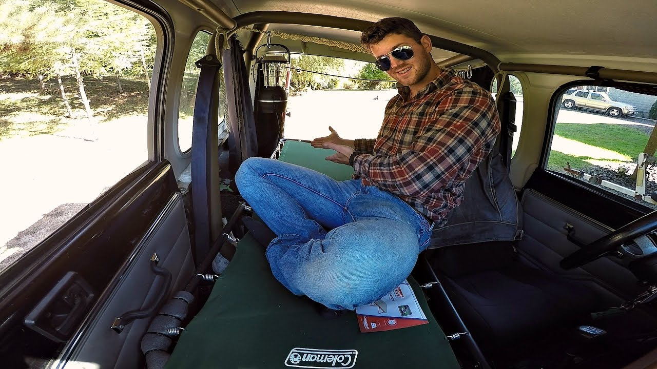 Jeep Wrangler Camping Mods How To Fit A Cot In A Jeep Wrangler Youtube